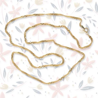 Resim 60 cm Altın Kaplama Gümüş Zincir