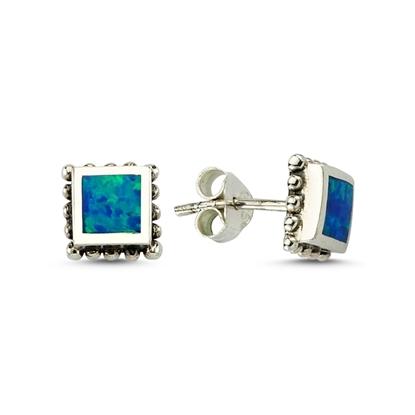 Resim Opal Gümüş Bayan Küpe