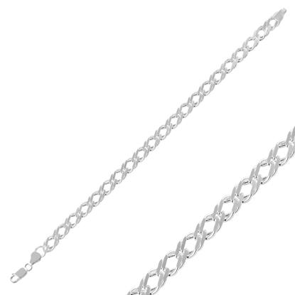 Resim 120 Mikron Rombo Gümüş Zincir Bileklik