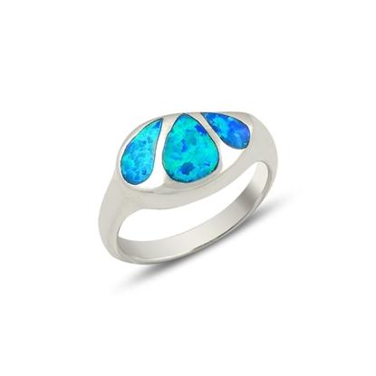 Resim Opal Taşlı Gümüş Bayan Yüzük
