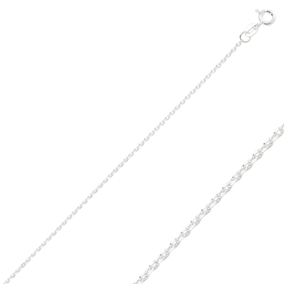 Resim 40 Mikron Tıraşlı Forse Gümüş Zincir Kolye