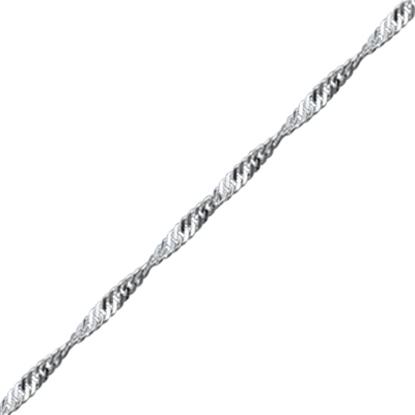 Resim 30 Mikron Singapur (Twist) Gümüş Zincir Kolye