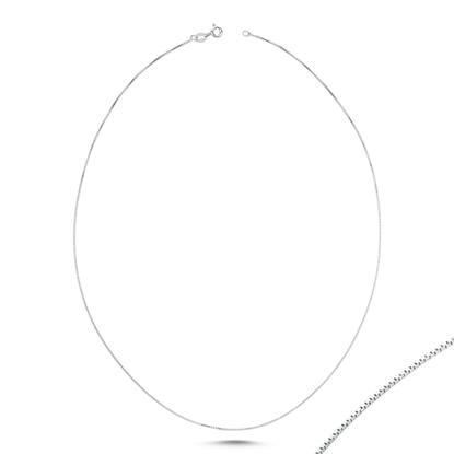 Resim 12 Mikron Küp Gümüş Bayan Zincir Kolye