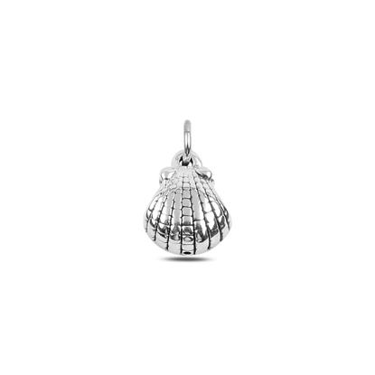 Resim Midye Kabuğu Elektroform Gümüş Bayan Kolye Ucu