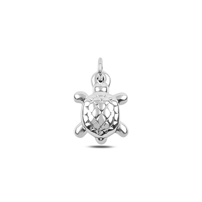 Resim Kaplumbağa Elektroform Gümüş Bayan Kolye Ucu