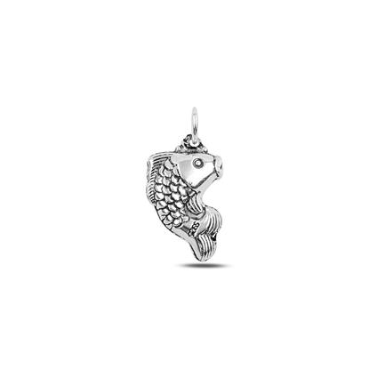 Resim Balık Elektroform Gümüş Bayan Kolye Ucu