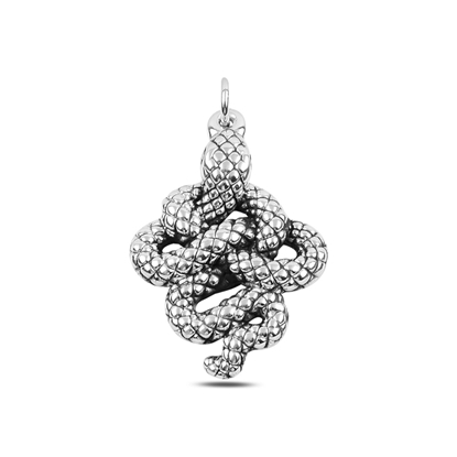 Resim Yılan Elektroform Gümüş Bayan Kolye Ucu