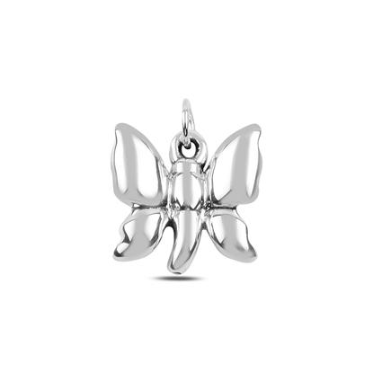 Resim Kelebek Elektroform Gümüş Bayan Kolye Ucu