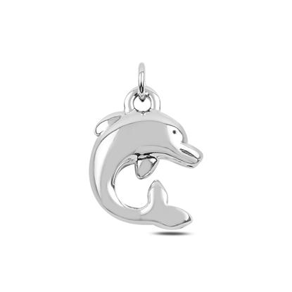 Resim Yunus Balığı Elektroform Gümüş Bayan Kolye Ucu