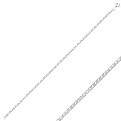 Resim 40 Mikron Rombo Gümüş Bayan Zincir Bileklik