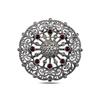 Ürün resmi: Ametist Zirkon (Mor) Markazit Taşlı Gümüş Broş & Gümüş Bayan Kolye Ucu