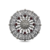 Ürün resmi: Kırmızı Akik Markazit Taşlı Gümüş Broş & Gümüş Bayan Kolye Ucu