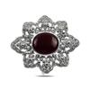 Ürün resmi: Kırmızı Akik Doğal Taş & Markazit Taşlı Gümüş Broş & Gümüş Bayan Kolye Ucu