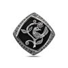 Ürün resmi: Oniks (Siyah Doğal Taş) Doğal Taş & Markazit Taşlı Gümüş Broş & Gümüş Bayan Kolye Ucu