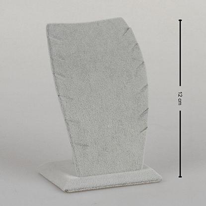 Resim 12cm Gri Kadife Hayalet Kolye Takı Standı