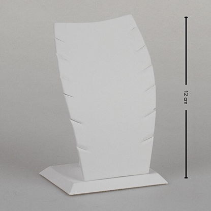 Resim 12cm Beyaz Deri Hayalet Kolye Takı Standı