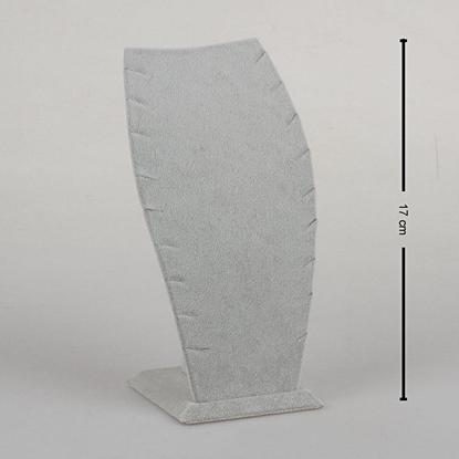 Resim 17cm Gri Kadife Hayalet Kolye Takı Standı