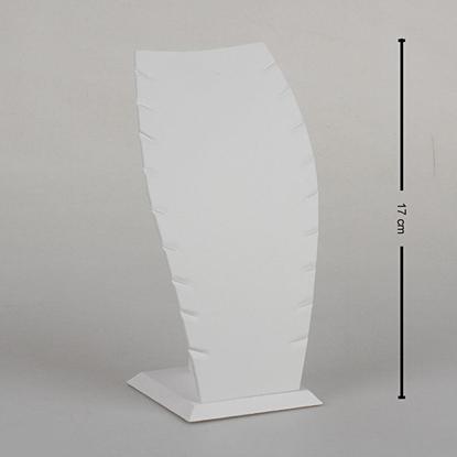 Resim 17cm Beyaz Deri Hayalet Kolye Takı Standı
