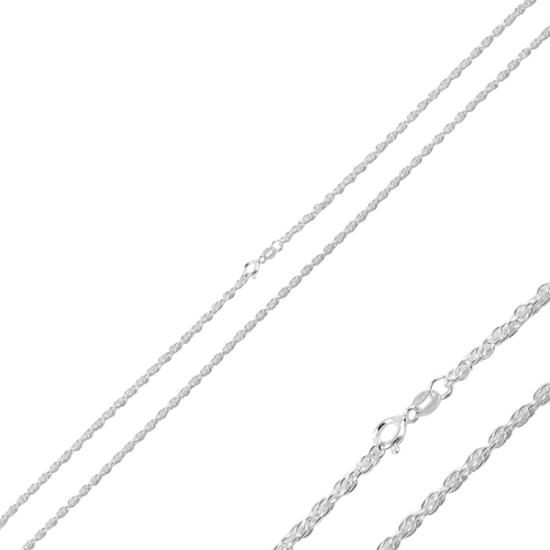 Ürün resmi: 30 Mikron Halat Gümüş Bayan Zincir Kolye