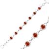 Ürün resmi: Kırmızı Akik Taşlı Gümüş Bayan Set