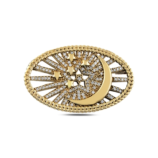 Ürün resmi: Zirkon Taşlı Otantik Gümüş Broş
