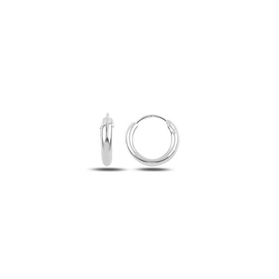 Ürün resmi: 12mm Sade Halka Gümüş Küpe