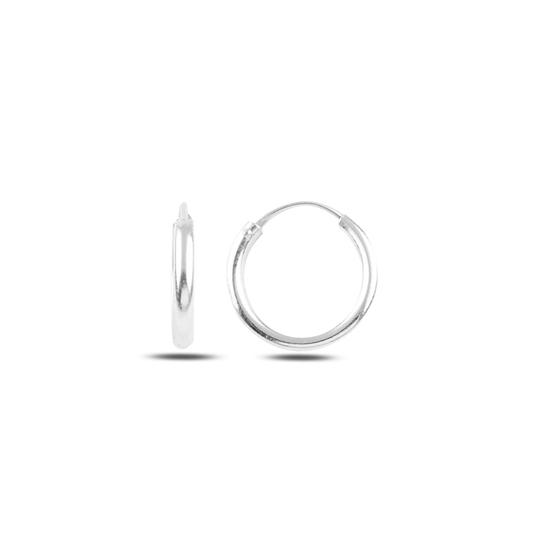 Ürün resmi: 16mm Sade Halka Gümüş Küpe