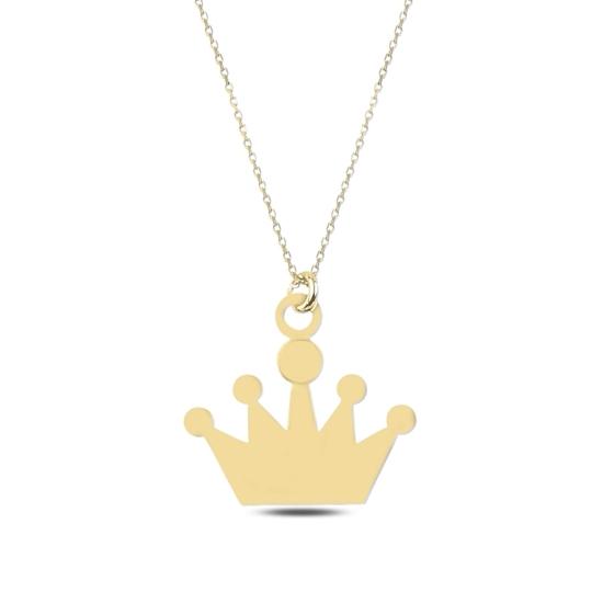 Ürün resmi: Altın Kaplama Taç Astar Gümüş Bayan Kolye