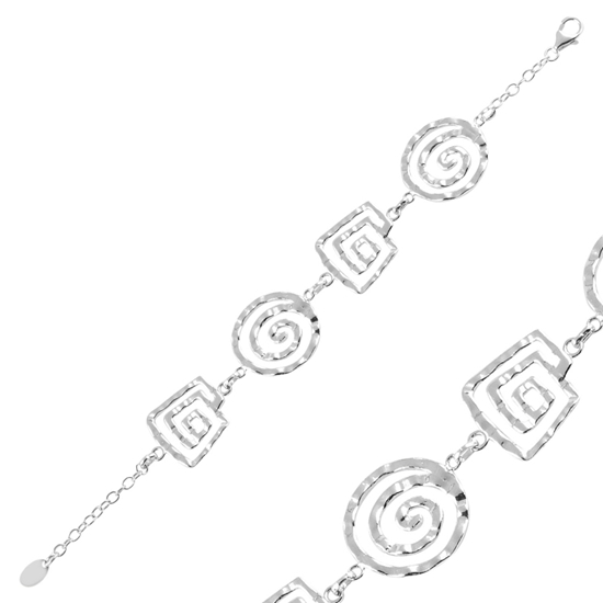 Ürün resmi: Taşsız Gümüş Bayan Bileklik