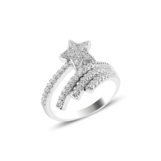 Ürün resmi: Kuyruklu Yıldız Zİrkon Taşlı Gümüş Bayan Yüzük