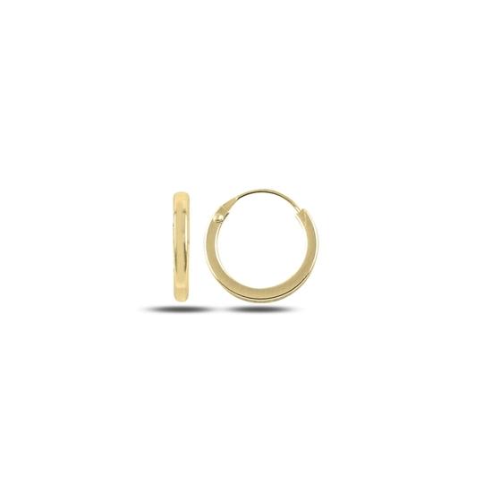 Ürün resmi: Altın Kaplama 12mm Sade Halka Gümüş Küpe