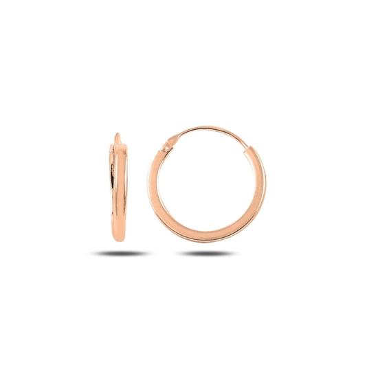 Ürün resmi: Rose Kaplama 16mm Sade Halka Gümüş Küpe