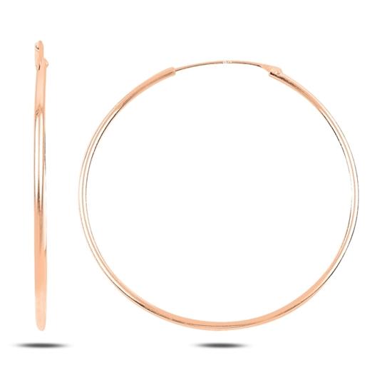 Ürün resmi: Rose Kaplama 40mm Sade Halka Gümüş Küpe