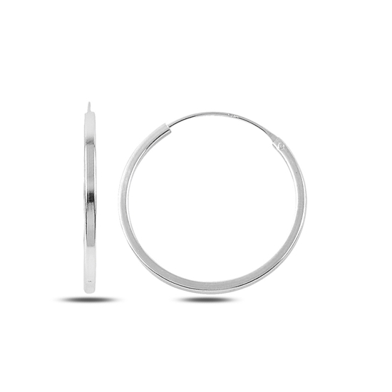 Ürün resmi: 25mm Sade Halka Gümüş Küpe