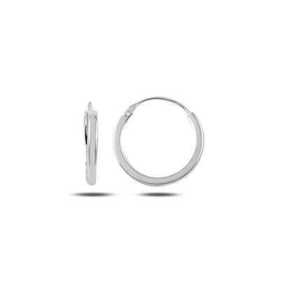 Resim 16mm Sade Halka Gümüş Küpe