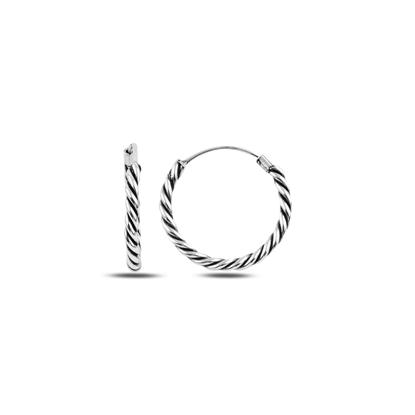 Resim 20mm Oksitli Halka Gümüş Küpe