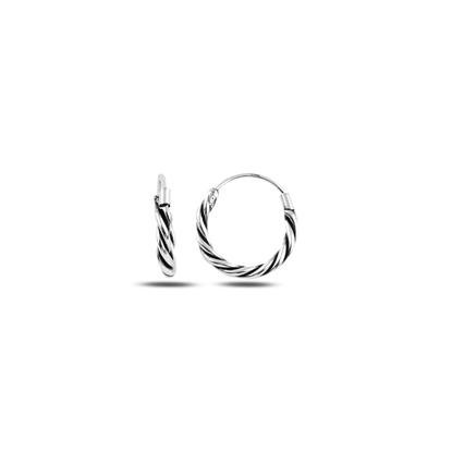 Resim 14mm Oksitli Halka Gümüş Küpe
