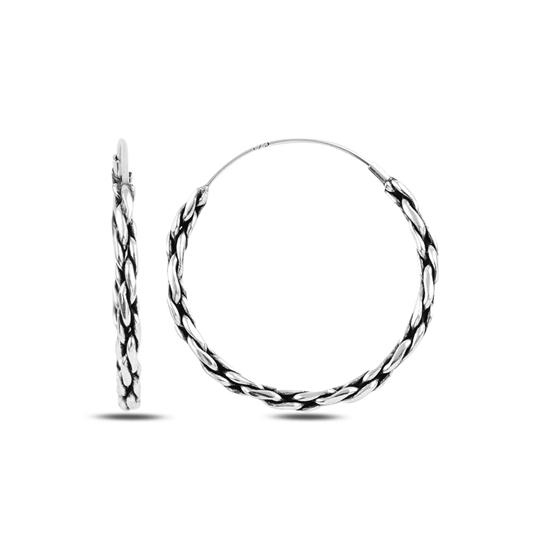 Ürün resmi: 30mm Oksitli Halka Gümüş Küpe