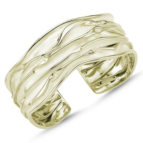 Ürün resmi: Altın Kaplama Altı Açık Buruşuk Gümüş Bilezik