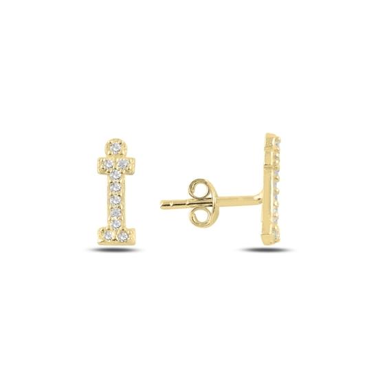 Ürün resmi: Altın Kaplama -İ- Harfi Gümüş Küpe