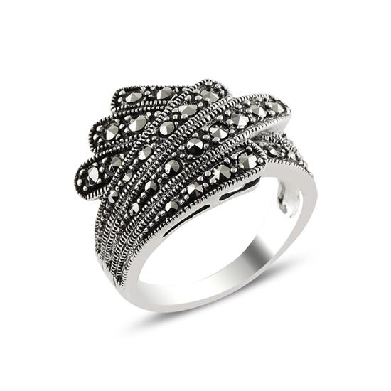 Ürün resmi: Markazit Taşlı Gümüş Bayan Yüzük