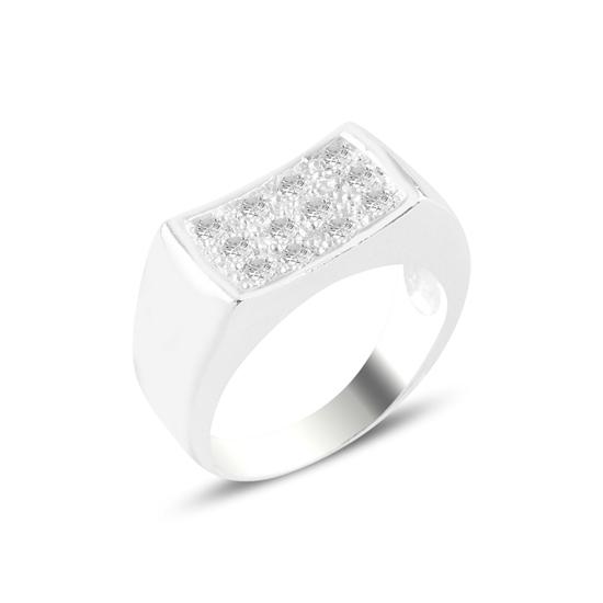 Ürün resmi: Zirkon Taşlı Gümüş Erkek Yüzük