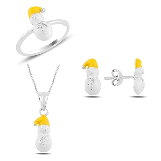 Ürün resmi: Kardan Adam Mineli Kız Çocuk Gümüş Bayan Set