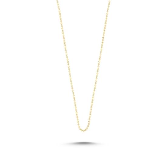 Ürün resmi: Altın Kaplama 1mm Toplu Gümüş Bayan Zincir Kolye