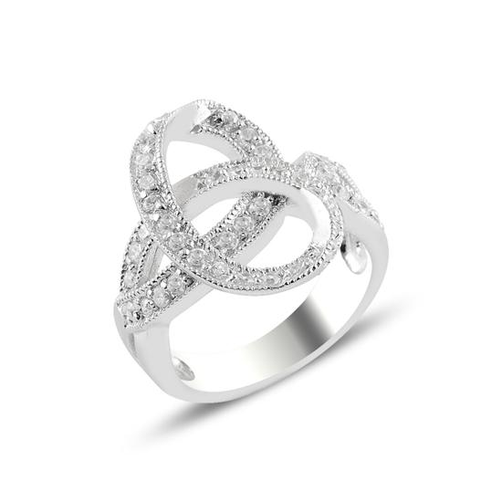 Ürün resmi: Zirkon Taşlı Gümüş Bayan Yüzük