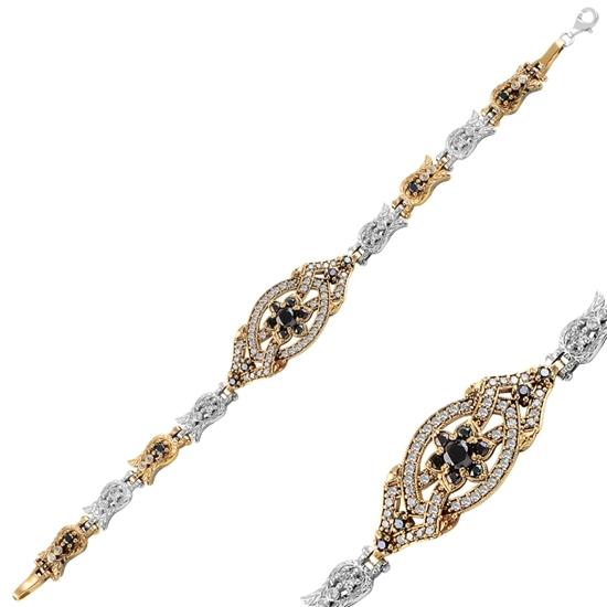 Ürün resmi: Zirkon Taşlı Otantik Gümüş Bayan Bileklik