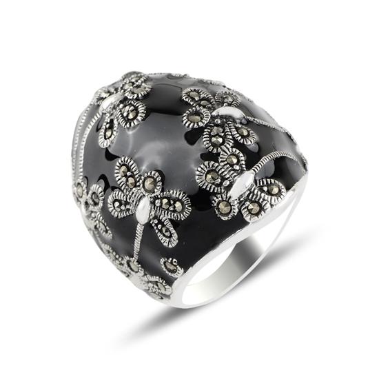 Ürün resmi: Yusufçuk Mine & Markazit Taşlı Gümüş Bayan Yüzük