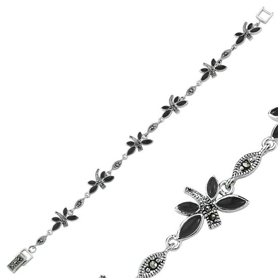 Ürün resmi: Sedef Markazit Taşlı Yusufçuk Gümüş Bayan Bileklik