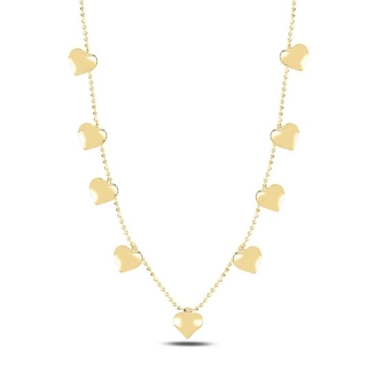 Ürün resmi: Altın Kaplama Kalp Sallantılı Gümüş Bayan Kolye