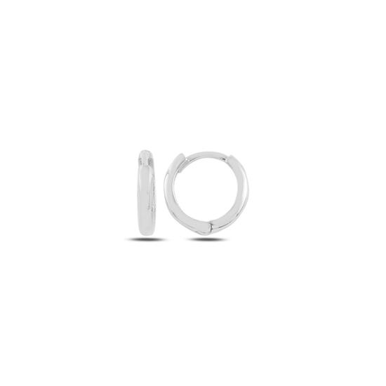 Ürün resmi: Rodyum Kaplama 13mm Sade Halka Gümüş Küpe